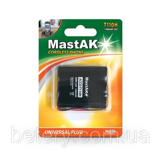 Аккумулятор к стационарному телефону MastAK T-110  ( 3,6v 1300mAh )