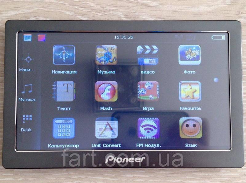 GPS навигатор Pioneer android 708 (512 ОЗУ/8 ПЗУ)