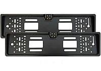 Камера заднего вида в авто номерной рамке с 4 LED подсветкой Black, фото 1