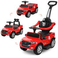 Детская электрическая каталка-толокар Bambi 3в1 Ford Ranger (красная). Подарок для ребенка!
