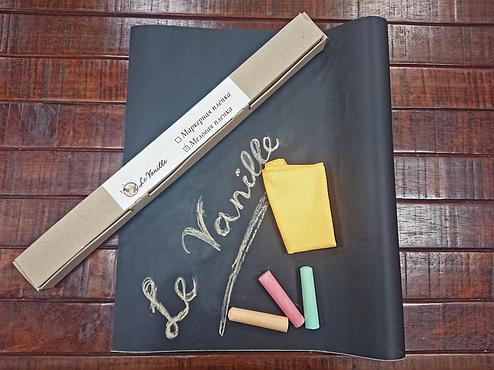 Меловая пленка черная Le Vanille 1.2 м ширина, фото 2