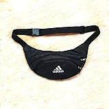 Черная Поясная сумка, Бананка, барсетка Адидас, adidas., фото 2