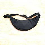 Черная Поясная сумка, Бананка, барсетка Адидас, adidas., фото 4