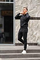 Спортивный костюм двунитка черный весна-лето ( худи + штаны ) КАЧЕСТВО ТОП! Украинское производство!