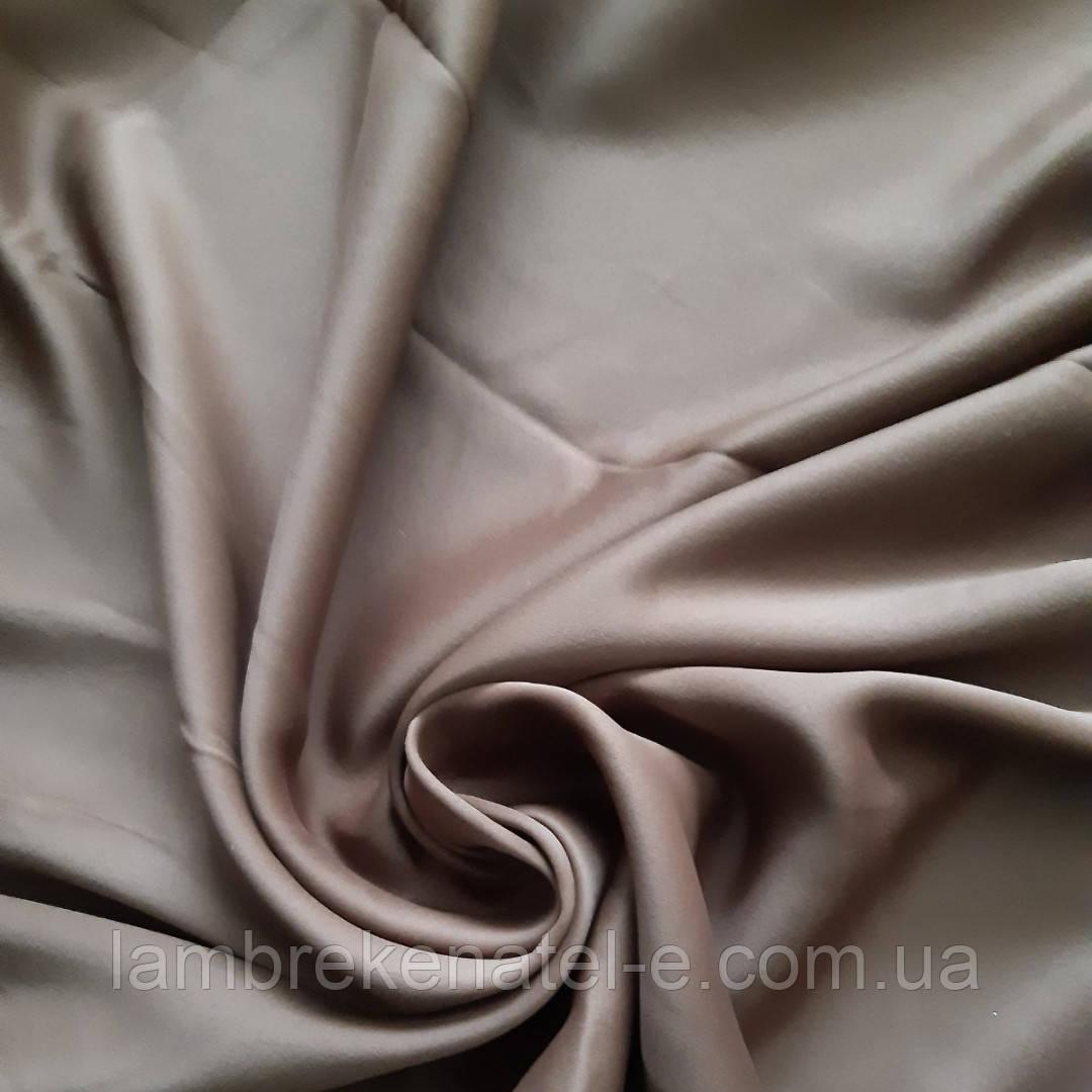 Шторы портьеры коричневого цвета светонепроницаемые на отрез с пошивом