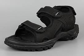 Сандалии босоножки унисекс подростковые кожаные черные Bona 775D-2 Бона Размеры 36 37 38 39 41