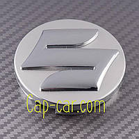 Ковпачки, заглушки для литих дисків Suzuki. Сірий+хром (58 мм)
