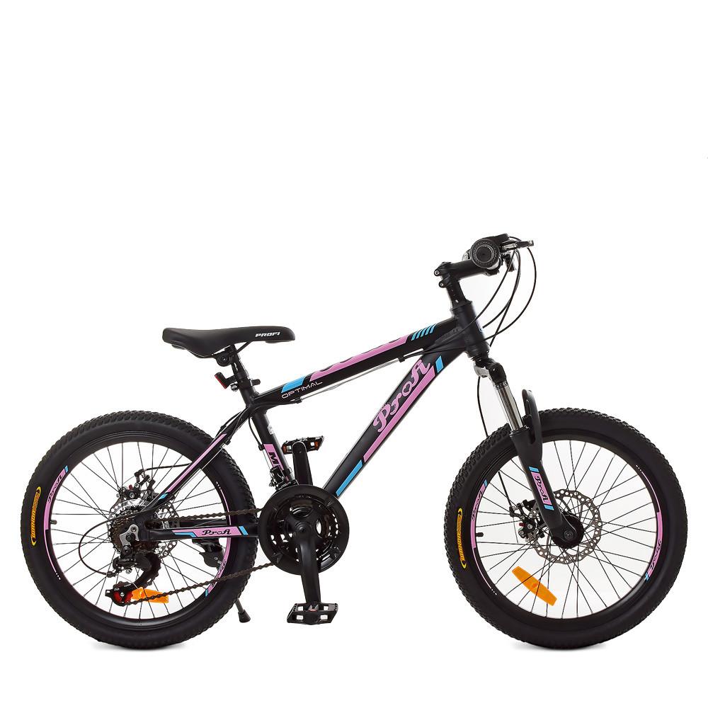 Горный Велосипед 20 Д. G20OPTIMAL A20.2 черно-розовый(матовый)