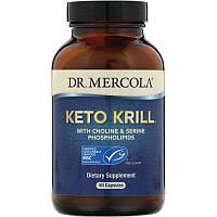 Dr. Mercola, Keto Krill, масло криля с холином и сериновыми фосфолипидами, 60 капсул