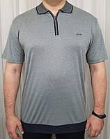 Мужская футболка поло большого размера оливковый цвет
