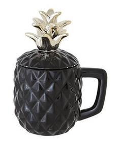 Кружка для коктейля - 9 х h 10-17.5 см, Черная (Cosy&Trendy) Pineapple