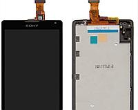 Sony Xperia ZL LT35h C6502 / C6503 Дисплей с сенсорным экраном (модуль с рамкой) черный org, фото 1
