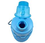 Силиконовая складная бутылка ГОЛУБАЯ 500 мл, фото 3