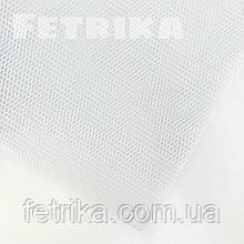 Фатин жесткий белый, сетка фатиновая