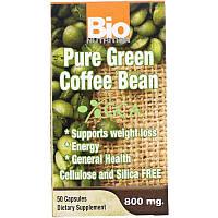 Bio Nutrition, Чистий зелений кава в зернах, 800 мг, 50 капсул
