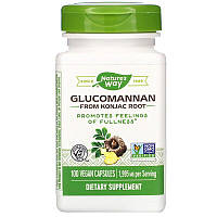 Nature's Way, Glucomannan from Konjac Root, Глюкоманнан от Konjac Root, 1,995 мг, 100 веганских капс