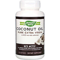 Nature's Way, Coconut Oil, Pure Extra Virgin, Кокосовое масло, 4000 мг, 120 гелевых капсул