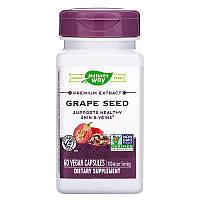 Nature's Way, Premium Extract, Grape Seed, Экстракт высшего сорта, виноградные косточки, 60 капсул