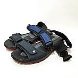42,44 р  Мужские кожаные сандалии с кожаной стелькой, фото 5