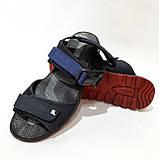 42,44 р  Мужские кожаные сандалии с кожаной стелькой, фото 4