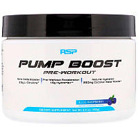 RSP Nutrition, Pump Boost Pre-Workout, Blue Raspberry, 6.4 oz (180 g)