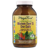 MegaFood, Серия One Daily, добавка для женщин старше 55лет, 120таблеток