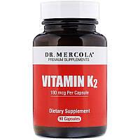 Dr. Mercola, ВитаминK2, 180мкг, 90капсул