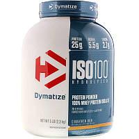 Dymatize Nutrition ISO100,100% изолят сывороточного протеина,булочка с корицей, 2,3 кг