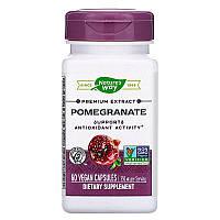 Nature's Way, Premium Extract, Pomegranate, Экстра премиум, гранат, 350 мг, 60 веганских капсул
