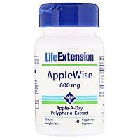 Life Extension, AppleWise, добавка из яблока, 600мг, 30вегетарианских капсул