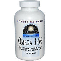 Source Naturals, Omega 3-6-9, 120 капсул