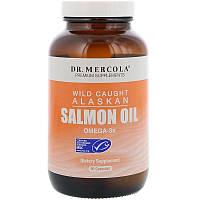 Dr. Mercola, Жир дикого аляскинского лосося, 90 капсул