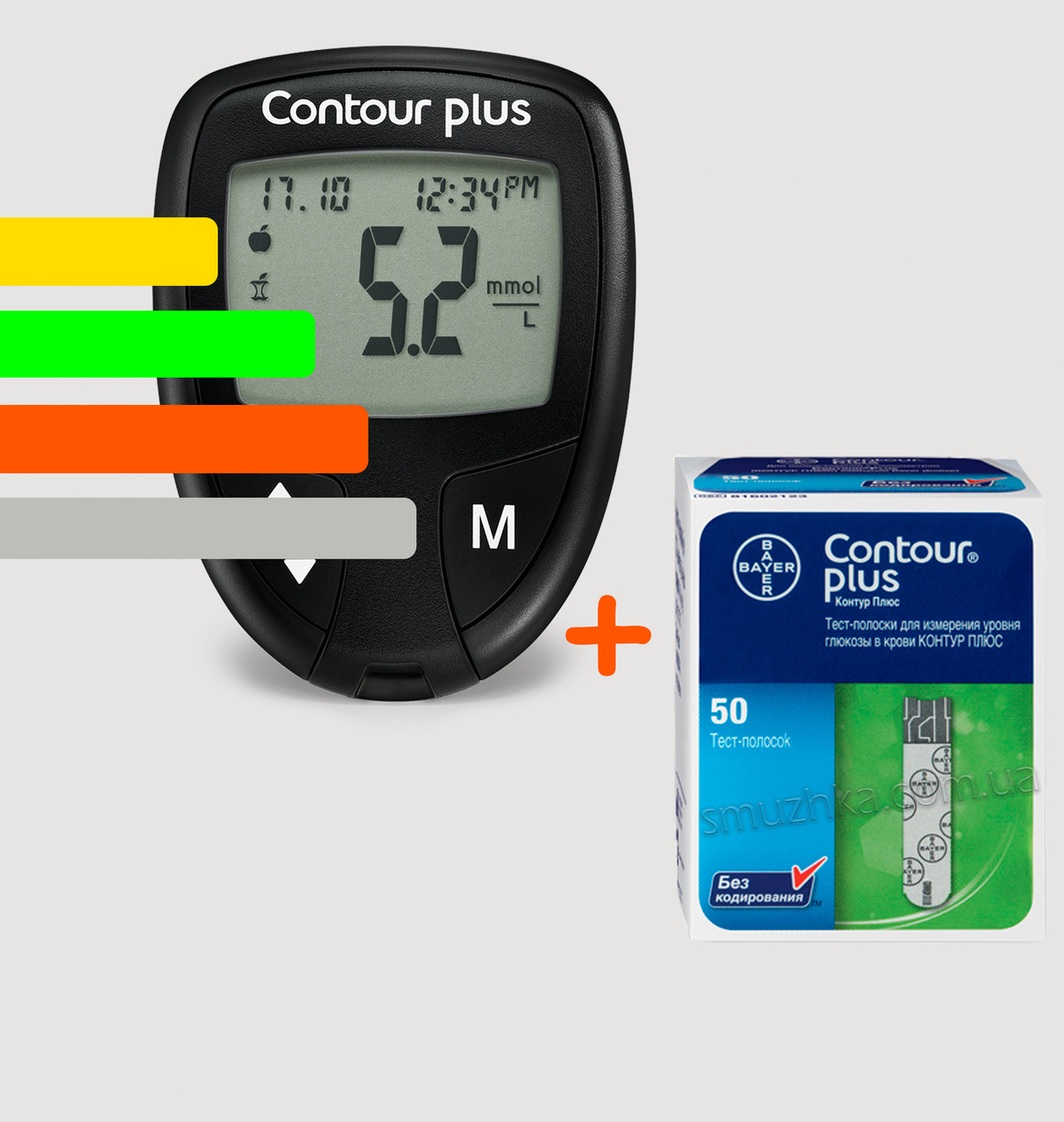 Глюкометр Contour PLUS - Контур ПЛЮС +50 тест-полосок
