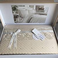 Комплект постельного белья сатин c вышивкой TM Royal Nazik Aura bej, фото 1