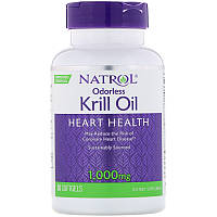 Natrol, Жир криля без запаха, 1000мг (30мягких таблеток)