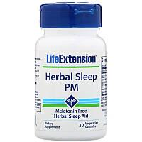 Life Extension, Herbal Sleep PM, 30вегетарианских капсул