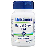 Life Extension, Herbal Sleep PM, для сна, 30 капсул