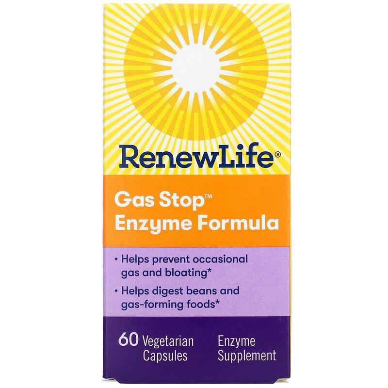 Renew Life, Gas Stop Enzyme Formula, 60 Capsules Vegetarian