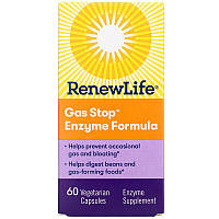 Renew Life, Gas Stop Enzyme Formula, 60 Capsules Vegetarian, фото 1