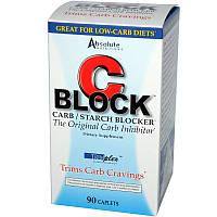 Absolute Nutrition, C Block, блокатор углеводов / крахмала, 90 капсуловидных таблеток