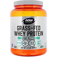 Now Foods, Экологически чистый концентрат сывороточного протеина, без вкусовых добавок, 544 г