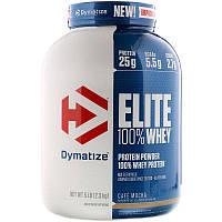 Dymatize Nutrition, Elite, 100-ный Сывороточный Протеин, Кофе Мокко,2, 27кг