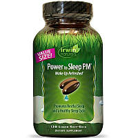 Irwin Naturals, Power to Sleep PM, 120 м'яких желатинових капсул з рідиною