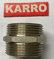"""Ниппель 1/2"""" Н/Н  Karro (никель )"""