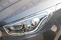 Хром накладки на фари Hyundai IX-35 2009+, фото 1