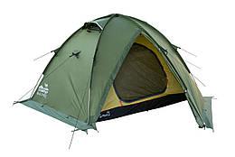 Палатка Tramp Rock 2 м, TRT-027-green. Палатка туристическая 2 месная. палатка туристическая
