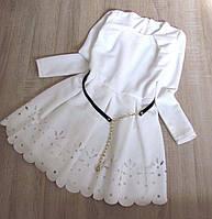 Р.134 Детское нарядное платье Никки (без пояска)