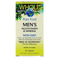 Natural Factors, Пищевая добавка 'Непочатое море и земля', мультивитаминный и минеральный комплекс для мужщин, 60 таблеток