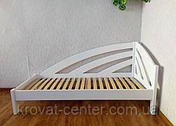 """Белая односпальная кровать из дерева """"Радуга"""" с прикроватной тумбочкой, фото 3"""