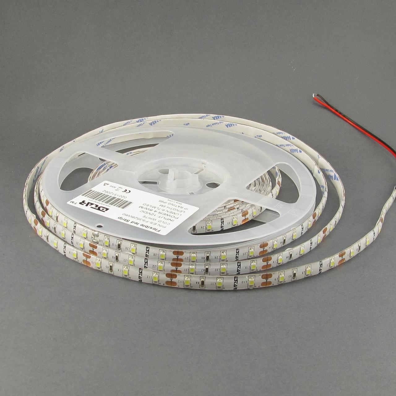 Светодиодная лента ESTAR 3528/60 4,8Вт 12В 3800-4300К Нейтральный белый IP65 премиум